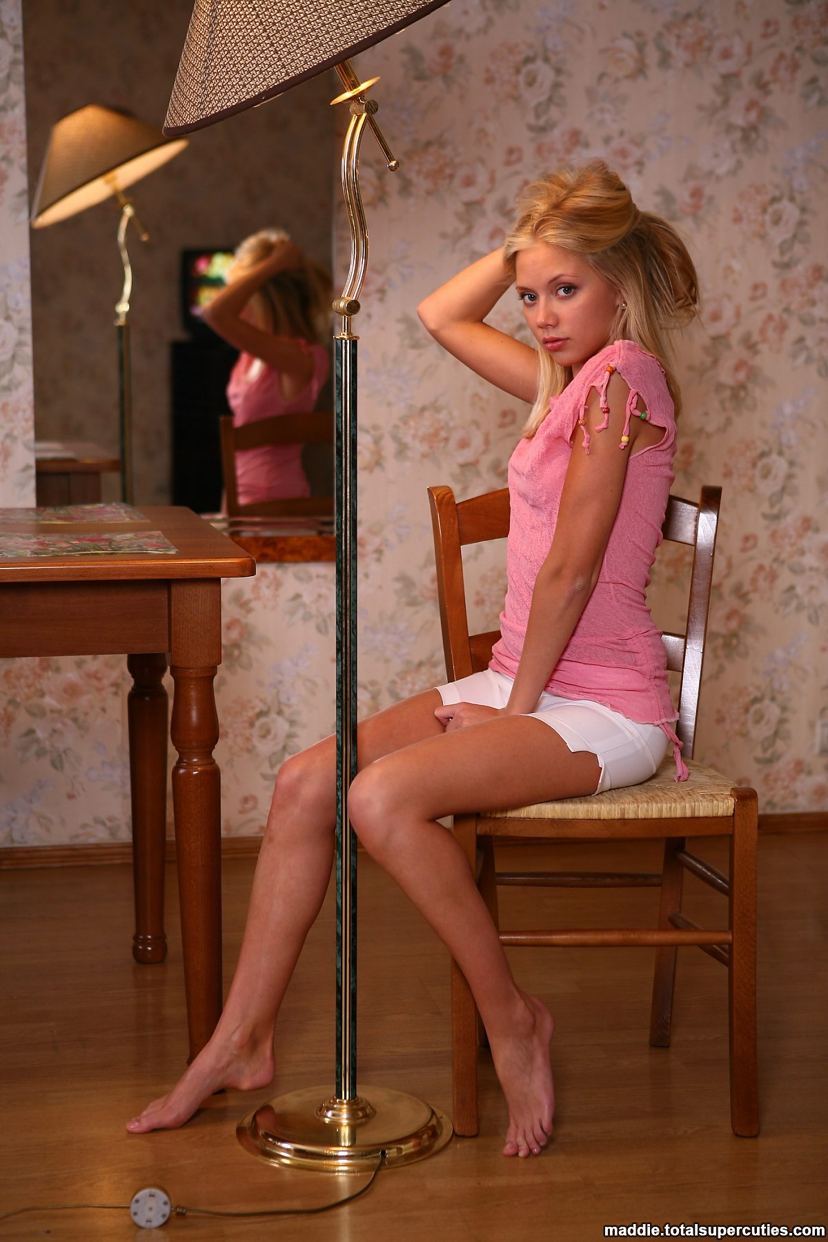 Shy Blonde Teenager Goes Topless - Picture 3