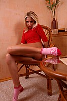 Tanned Blonde Teen In Pink Socks - Picture 9